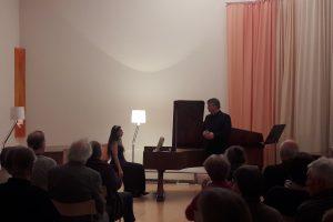 """Liederabend """"Winterreise"""" mit Thomas Gropper, Musikhaus Marthashofen, 2019"""
