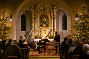 Weihnachtliches Konzert mit Ensemble SiTé in St. Mauritius, 2019